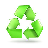 3d recycle sign. White background, 3d image Royalty Free Stock Photo
