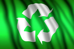 3d Recycling Flag Royalty Free Stock Photography
