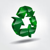 3d recycling symbol Royalty Free Stock Photos