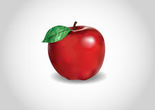 3d red apple Stock Images