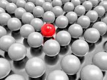 3D Red Ball Background. Leader and Different Concept Royalty Free Stock Image