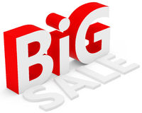 3d red big sale Stock Photos