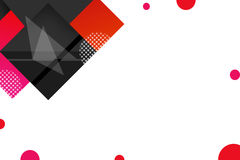 3d red and black sqaure overlaping, abstrack background Royalty Free Stock Images