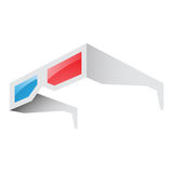 3d Red and Blue Glasses Stock Photo