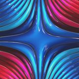 3d red blue glossy abstract background.  stock illustration