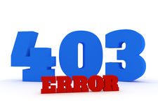 3d red and blue text 403 error on white background Royalty Free Stock Images