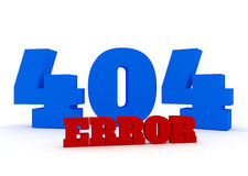 3d red and blue text 404 error on white background Royalty Free Stock Photo