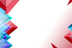 3d red and blue triangles, abstrack background Royalty Free Stock Photo