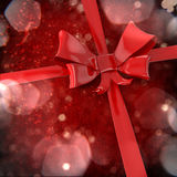 3d red bow and ribbon background Royalty Free Stock Images