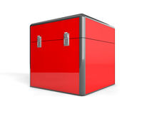 3d red box Stock Photos
