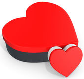 3d red boxes in the shape of heart Stock Images