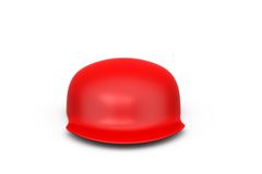 3d red cap concept Stock Images