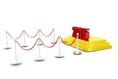 3d  2015 red carpet concept Royalty Free Stock Photography