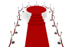 3d red carpet and podium Stock Photography