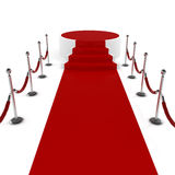 3d red carpet and podium Royalty Free Stock Image