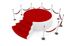 3d red carpet and podium Royalty Free Stock Photography