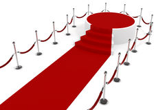 3d red carpet and podium Royalty Free Stock Images