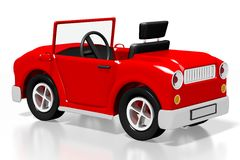 3D red cartoon car Royalty Free Stock Image