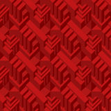 3d red cube pattern Stock Photo