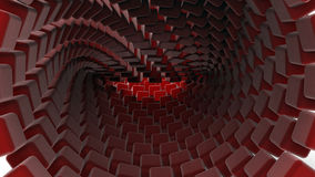 3D red cubes background. 3D rendered of a futuristic red cube pattern background Stock Photo
