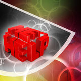 3d red cubes with logo HELP Stock Photography