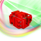 3d red cubes with logo HELP Royalty Free Stock Photo