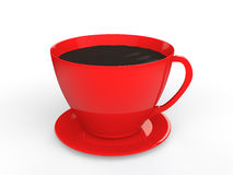 3d red cup of tea Royalty Free Stock Photos