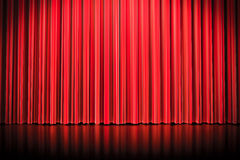 3d red curtain Stock Photography