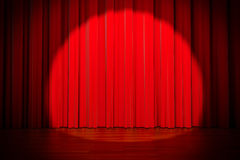 3d red curtain Royalty Free Stock Photo