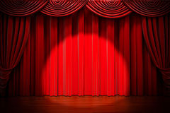 3d red curtain Royalty Free Stock Photography