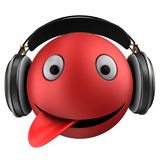 3d red emoticon smile Stock Photos