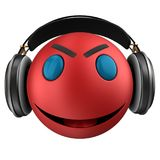 3d red emoticon smile Royalty Free Stock Images