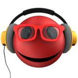 3d red emoticon smile Royalty Free Stock Image