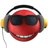 3d red emoticon smile Royalty Free Stock Photos