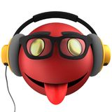 3d red emoticon smile Royalty Free Stock Photo