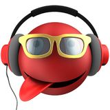 3d red emoticon smile Stock Photography
