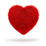 3d red fluffy heart Stock Photo