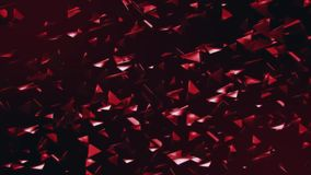 3D Red Flying Abstract Triangles Loopable Motion Background. Abstract 3D Red Flying Abstract Triangles Loopable Motion Background Backdrop stock video footage