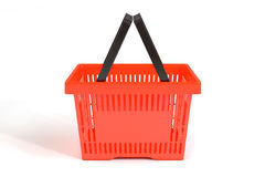 3D red food basket. 3D empty red food basket Stock Photos