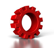3d red gear Stock Images