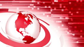 3d red globe news style background loop stock video