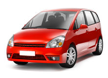 3D Red Hatch Back Car Royalty Free Stock Photography