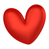 3D Red heart color Stock Photo