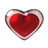 3D Red Heart. 3D rendered gold heart encased in glass Stock Photo