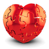3d red Heart-Shaped Puzzle Royalty Free Stock Photo