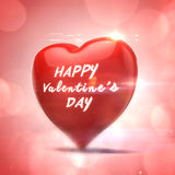 3d red heart, valentines day concept. On red background Stock Image