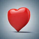3d red heart, valentines day concept Stock Image