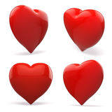 3d red heart, valentines day concept Stock Photos