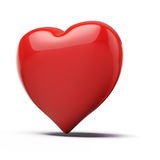 3d red heart, valentines day concept. On white background royalty free illustration