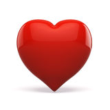 3d red heart, valentines day concept. On white background Royalty Free Stock Photo